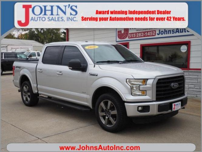 2015 Ingot Silver Metallic Ford F-150 XLT (1FTEW1EP1FK) with an 2.7 6 Cylinder Twin Turbo engine, Shiftable Automatic transmission, located at 5435 NW 1st Street, Des Moines, IA, 50313, (515) 282-1452, 41.659409, -93.618713 - Photo #0