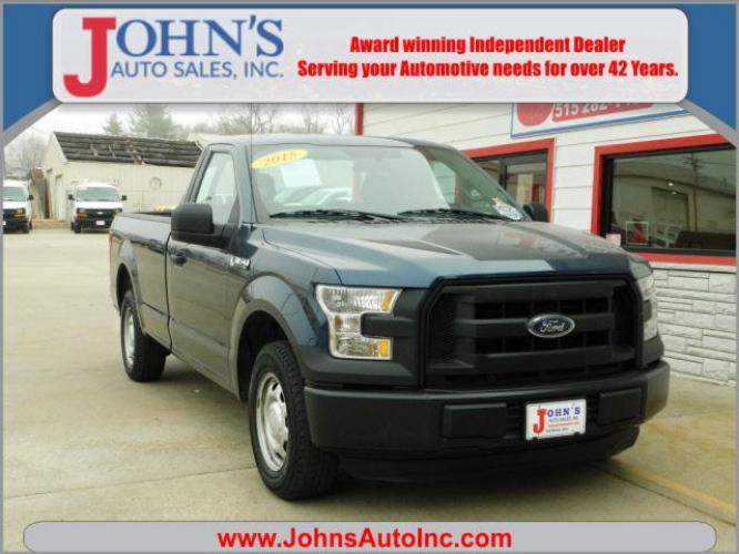 2015 Blue Ford F-150 XL (1FTMF1C80FK) with an 3.5 6 Cylinder Sequential-Port F.I. engine, Shiftable Automatic transmission, located at 5435 NW 1st Street, Des Moines, IA, 50313, (515) 282-1452, 41.659409, -93.618713 - Photo #0